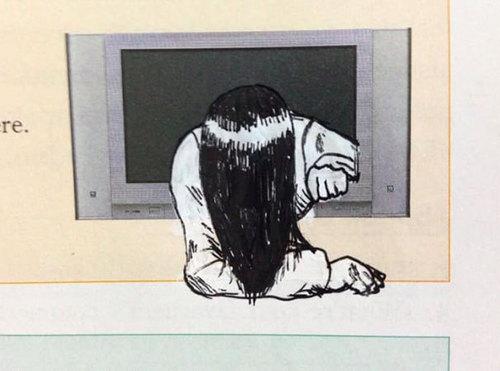 教科書らくがき貞子.jpg